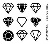a set of diamonds in a flat... | Shutterstock .eps vector #1187274082