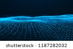 wave of particles. futuristic... | Shutterstock . vector #1187282032