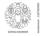 linear banners for eating... | Shutterstock .eps vector #1187283385