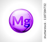 magnesium mineral vector icon.... | Shutterstock .eps vector #1187284732