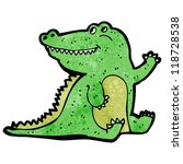 cartoon friendly crocodile | Shutterstock .eps vector #118728538