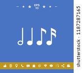 symbol of music  notes.... | Shutterstock .eps vector #1187287165