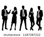 vector silhouettes men and... | Shutterstock .eps vector #1187287222