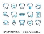 dental medicine related line... | Shutterstock .eps vector #1187288362