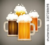 type of beer glass mug with... | Shutterstock .eps vector #1187288698
