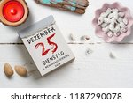 tear off calendar with 25th of... | Shutterstock . vector #1187290078