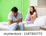 woman and man in the bedroom... | Shutterstock . vector #1187301772