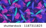 trendy fashion seamless pattern ... | Shutterstock .eps vector #1187311825