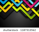 colorful abstract stripes on... | Shutterstock .eps vector #1187313562