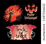 halloween stickers concept....   Shutterstock .eps vector #1187316622