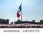 zocalo de la cuidad de m xico... | Shutterstock . vector #1187325715