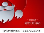 christmas banner  holiday... | Shutterstock .eps vector #1187328145