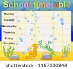 school timetable with marine... | Shutterstock .eps vector #1187330848