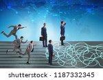 business concept of uncertainty ...   Shutterstock . vector #1187332345