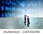 business concept of uncertainty ...   Shutterstock . vector #1187332348