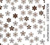 vector floral pattern in doodle ... | Shutterstock .eps vector #1187338708