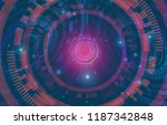 abstract technology background. ... | Shutterstock .eps vector #1187342848