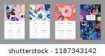 calendar 2019. printable... | Shutterstock .eps vector #1187343142