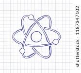 scientific atom symbol  simple...   Shutterstock .eps vector #1187347102