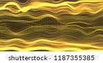 abstract yellows particles... | Shutterstock .eps vector #1187355385