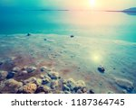 early morning on the beach.... | Shutterstock . vector #1187364745