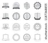 vector design of emblem and... | Shutterstock .eps vector #1187368855