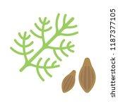 vector illustration of dill... | Shutterstock .eps vector #1187377105