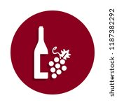 wine icon in badge style. one...