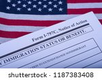 form i   797c application to... | Shutterstock . vector #1187383408
