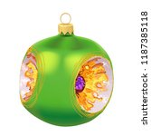 beautiful realistic new year 3d ... | Shutterstock .eps vector #1187385118