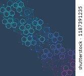 hexagonal abstract background.... | Shutterstock .eps vector #1187391235