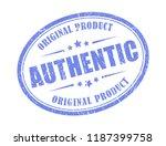 authentic original product... | Shutterstock .eps vector #1187399758