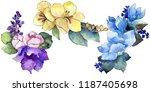 watercolor colorful bouquet...   Shutterstock . vector #1187405698