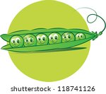 vector illustration of six peas ... | Shutterstock .eps vector #118741126