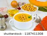 vegetarian dishes. pumpkin... | Shutterstock . vector #1187411308
