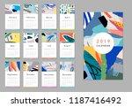 calendar 2019. printable... | Shutterstock .eps vector #1187416492