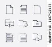 outline 9 messy icon set.... | Shutterstock .eps vector #1187429635