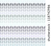 seamless knitted geometric... | Shutterstock .eps vector #118742986