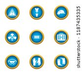 preservation icons set. flat... | Shutterstock .eps vector #1187435335