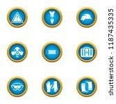preservation icons set. flat... | Shutterstock .eps vector #1187435335
