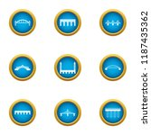 drawbridge icons set. flat set...   Shutterstock .eps vector #1187435362