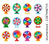 fortune wheel spin icon set.... | Shutterstock .eps vector #1187448715