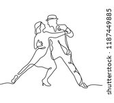 tango continuous line... | Shutterstock .eps vector #1187449885