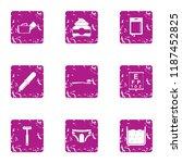 morning procedure icons set....   Shutterstock .eps vector #1187452825