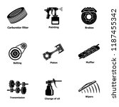 fix machinery icons set. simple ...   Shutterstock .eps vector #1187455342