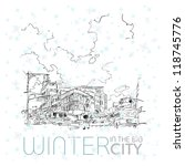 winter in the big city. vector... | Shutterstock .eps vector #118745776