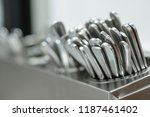 set of spoons close up | Shutterstock . vector #1187461402
