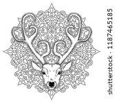 beautiful hand drawn tribal... | Shutterstock .eps vector #1187465185