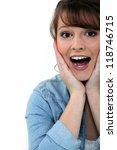 overjoyed woman   Shutterstock . vector #118746715