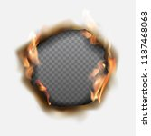 vector realistic hole burnt in... | Shutterstock .eps vector #1187468068